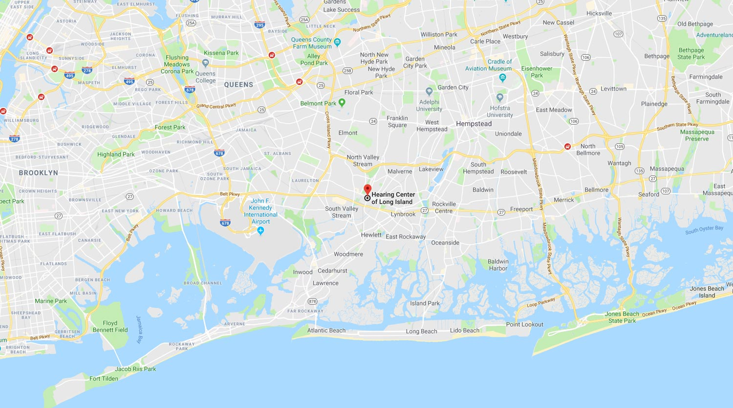 hearing center of long island map