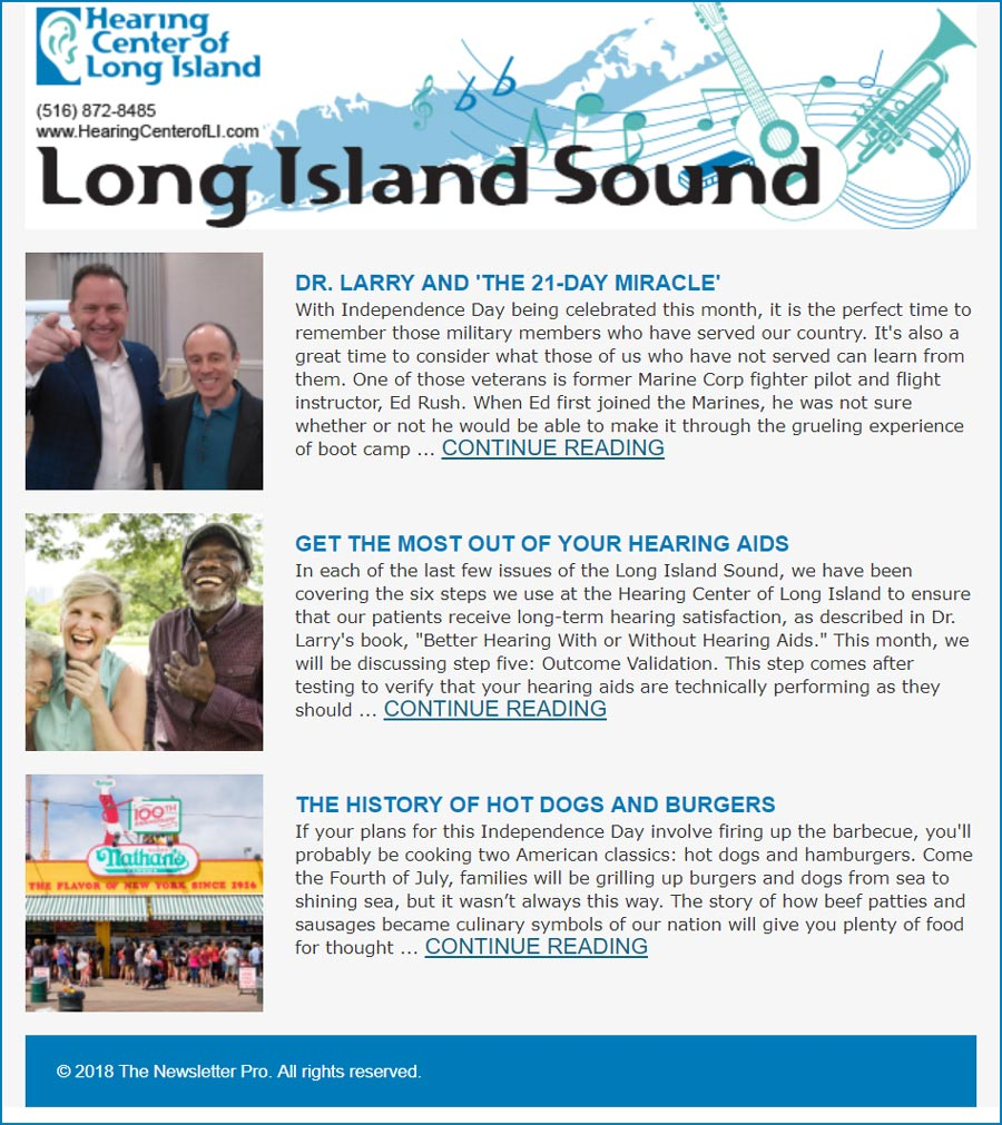 hearing center of long island newsletter